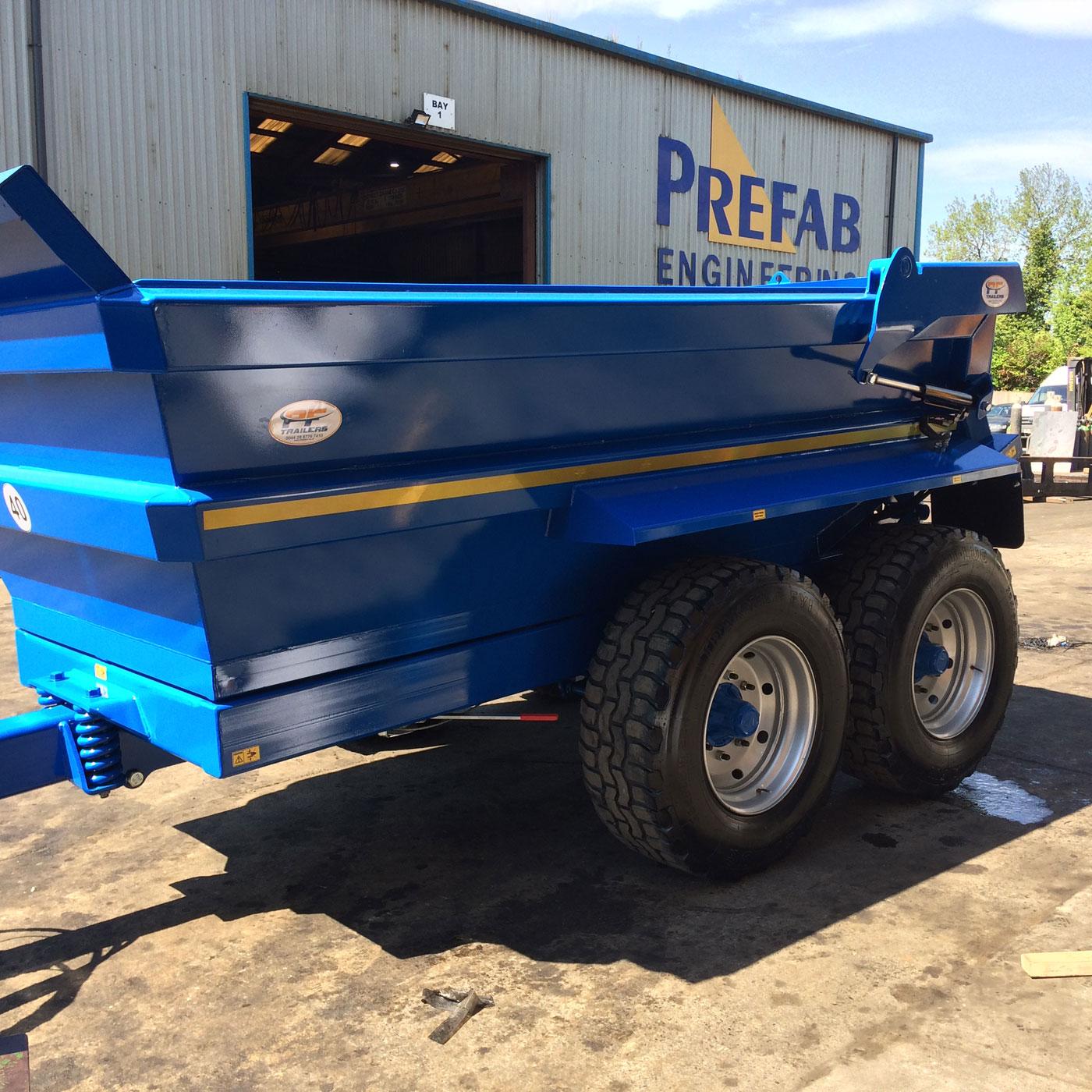 12T Hydraulic Tipping Dump Trailer