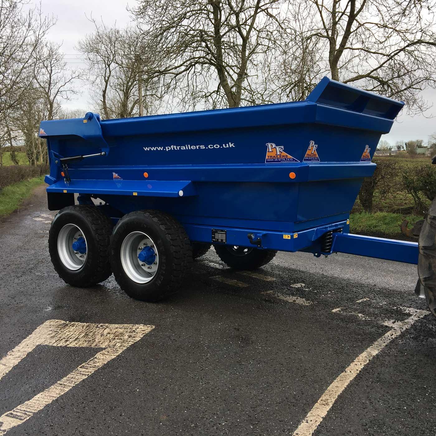 14T Hydraulic Tipping Dump Trailer