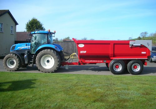 20T Half Pipe Tipping Trailer