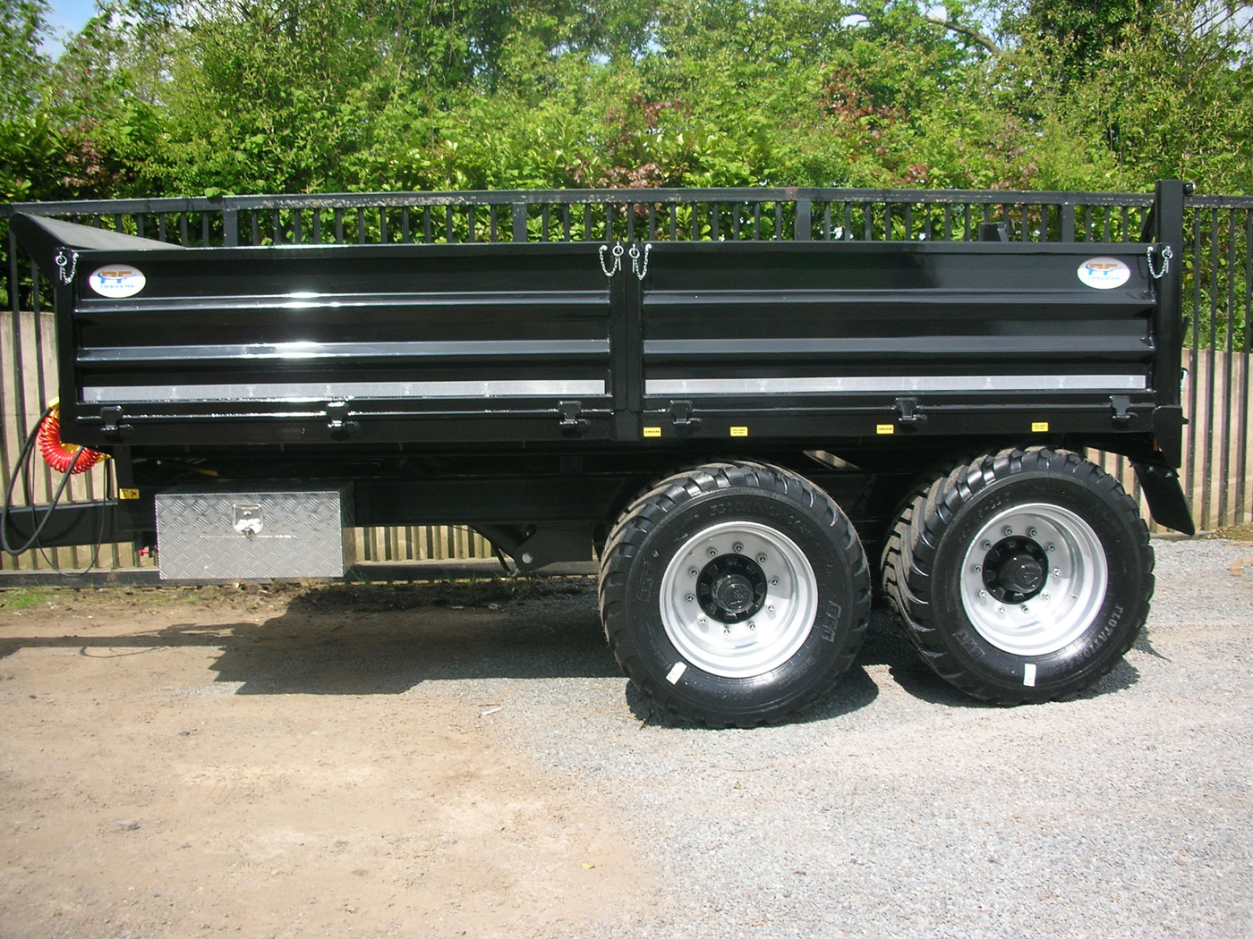 12T Dropside Tipping Trailer