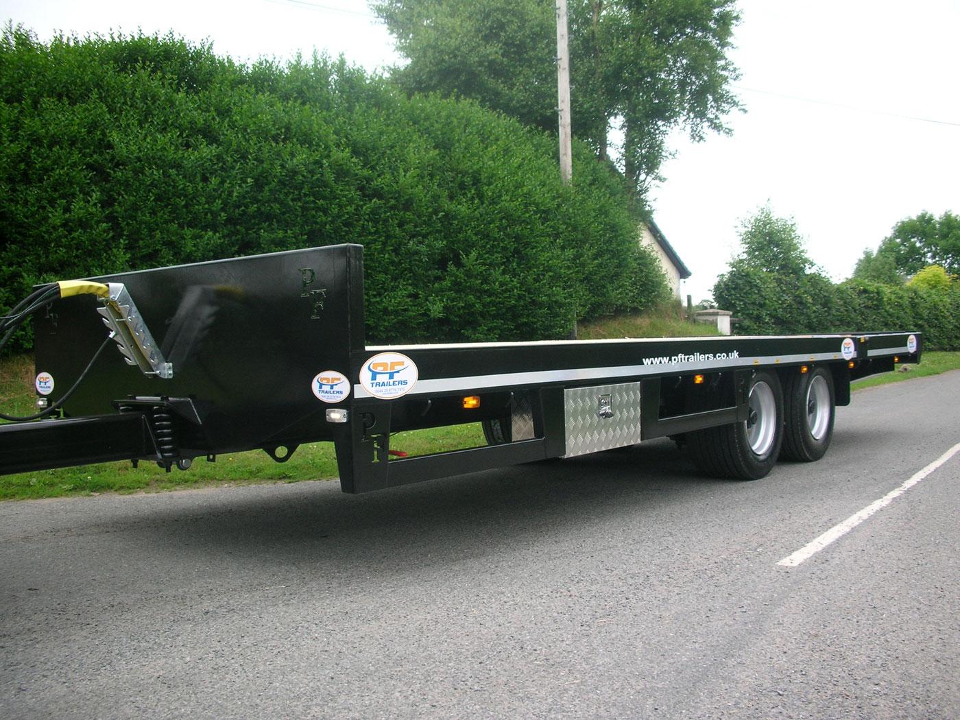 2axle 19T Hydraulic Beavertail Trailer