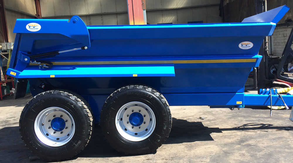 12T Hydraulic Tipping Dump Trailer